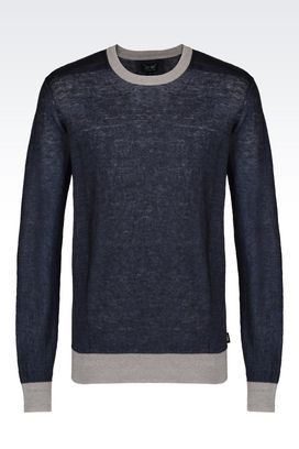 Armani Crewneck sweaters Men linen sweater