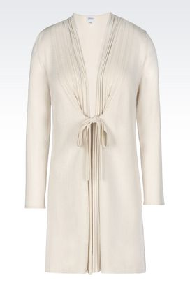 Armani Cardigans Women cardigan in silk and cashmere