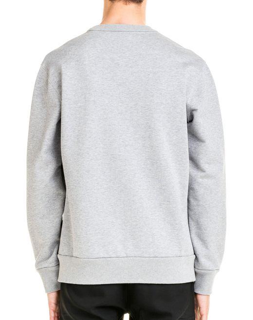lanvin fleece sweatshirt men