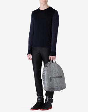 Tri-colour wool sweatshirt