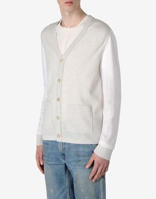 Tri-colour wool cardigan