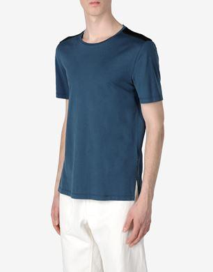Cotton T-shirt with shoulder detail