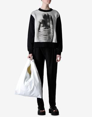 Sweatshirt with oversized hand print