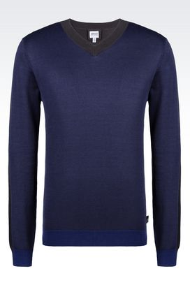 Armani V  neck sweaters Men sweater in silk and cotton
