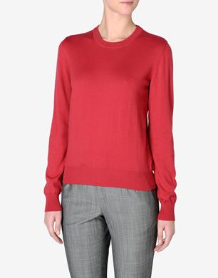 Maison Margiela Crewneck jumper with leather elbow patches