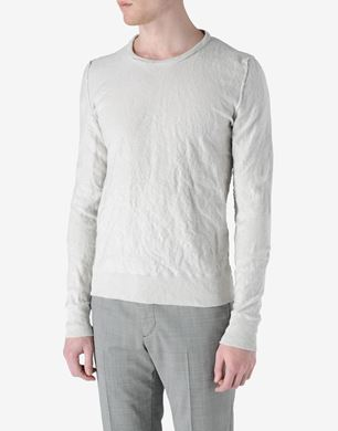 Inside out' effect crewneck sweater