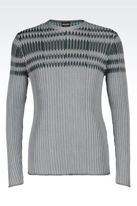 Armani Sweaters Men v-neck ribbed sweater