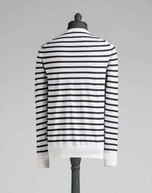 条纹羊绒针织衫