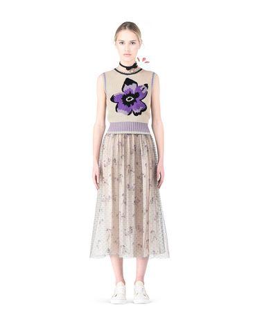 REDValentino Violet intarsia knit vest