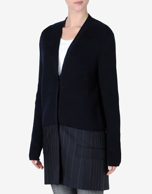 Maison Margiela Cardigan with trompe l'œil suit jacket application