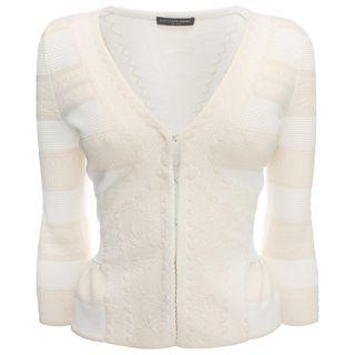 ALEXANDER MCQUEEN, Knitwear, 3/4 Sleeve V-Neck Cardigan