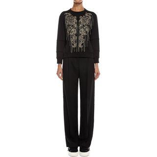 ALEXANDER MCQUEEN, Knitwear, Metal Flower Embroidery Sweatshirt