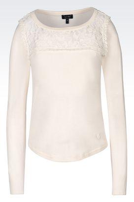 Armani Pullover mit Rundkragen Für sie pullover aus baumwolle/modal