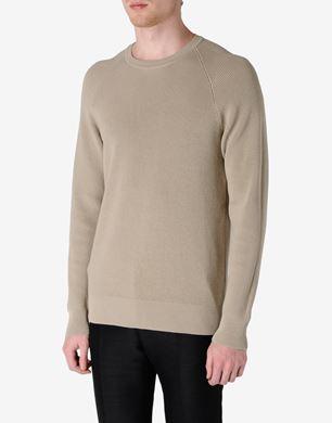 Rib knit crewneck sweater