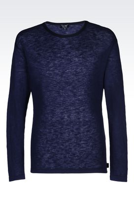 Armani Crewneck sweaters Men t-shirt in silk and cotton