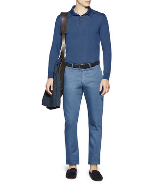 ERMENEGILDO ZEGNA: Polo-Neck Blue - 39621858SN