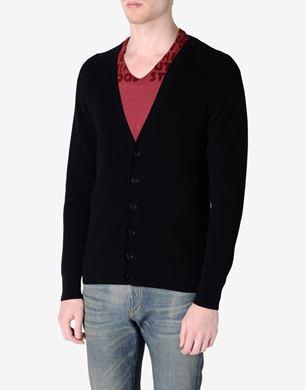 Rib knit cotton cardigan