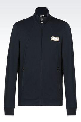 Armani Zip sweatshirts Men lux identity full zip cotton