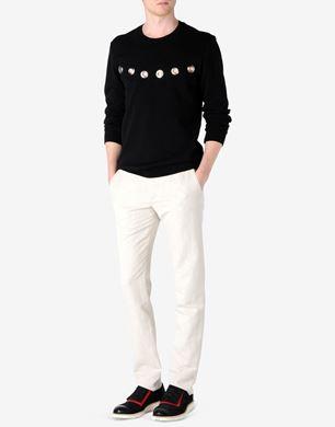 Cotton jersey two-tone sweatshirt