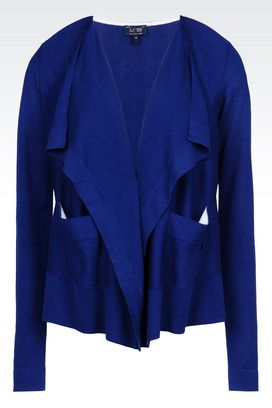 Armani Cardigans Women cardigan in silk and cotton