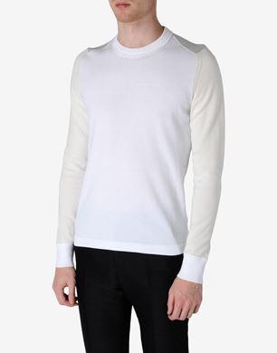 Tri-coloured cotton jumper