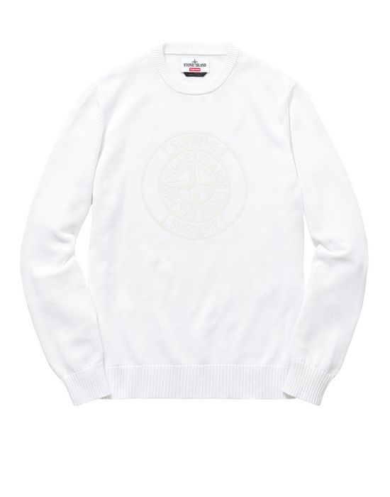 7e2910f662 501S7 COMPASS PIN SWEATER IN PIMA COTTON STONE ISLAND FOR SUPREME Crewneck Stone  Island Men - Official Online Store