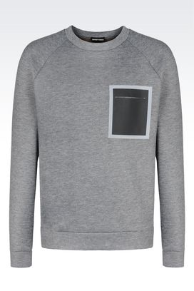 Armani Sweatshirts Men sweatshirt in neoprene