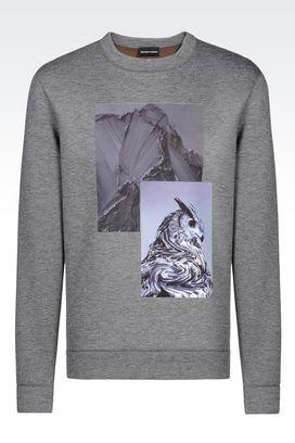 Armani Sweatshirts Men reversible sweatshirt in neoprene
