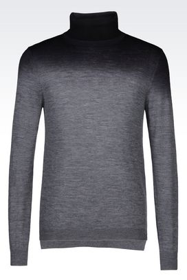 Armani High neck sweaters Men turtleneck wool sweater