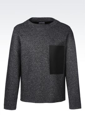 Armani Sweatshirts Men sweatshirt in wool blend