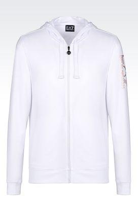 Armani Zip sweatshirts Men visibility line full zip hooded sweatshirt