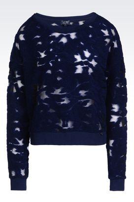 Armani Crewneck sweaters Women sweatshirt in jersey