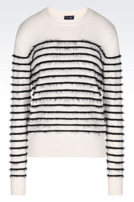 Armani Crewneck sweaters Women striped sweater
