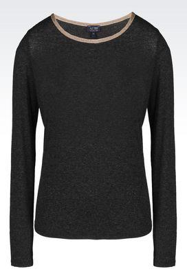 Armani Pullover mit Rundkragen Für sie t-shirt aus jersey