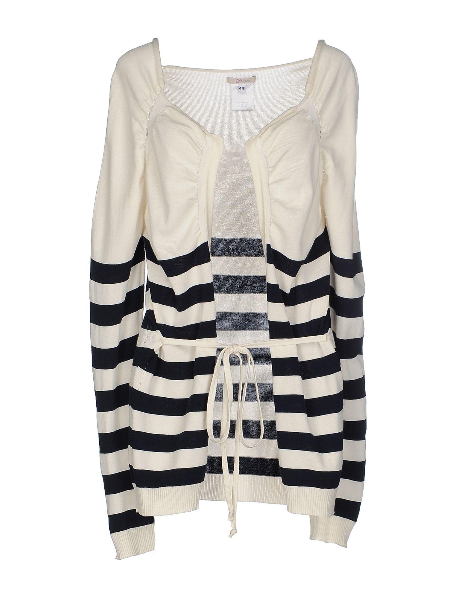 GOLD CASE Damen Strickjacke Farbe Weiß Größe 5