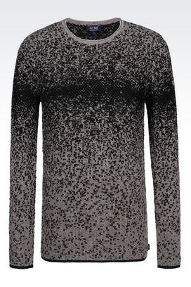 Armani Crewneck sweaters Men sweater in wool blend
