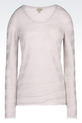Armani Crewneck sweaters Women sweater in virgin wool