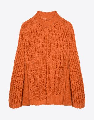 Wide gauge knit sweater