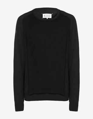 Panelled crewneck sweater