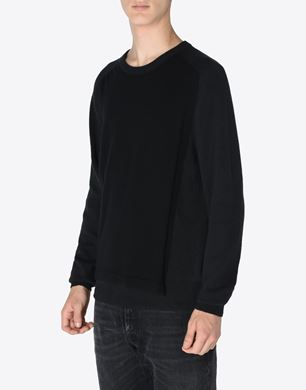 Panelled crewneck sweater