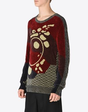Jacquard inlay sweater