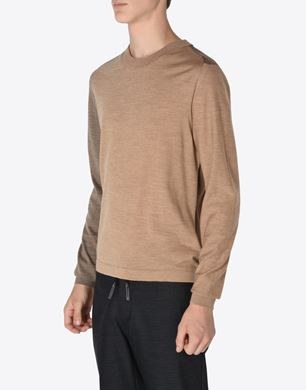 Panelled wool sweater