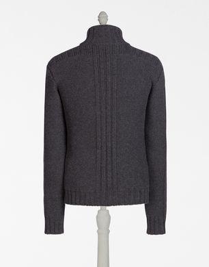 羊绒拉链针织开衫: ● 3针丝光针织面料 ● 正面嵌线口袋 ●罗纹