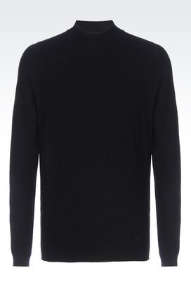 Armani High neck sweaters Men sweater in viscose blend