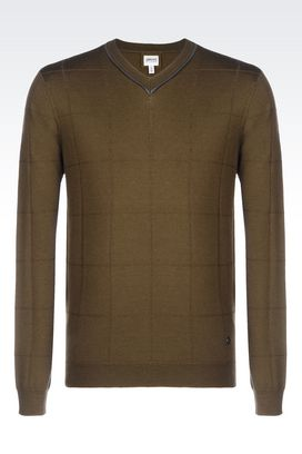 Armani V  neck sweaters Men wool sweater