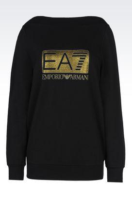 Armani Crewneck sweatshirts Women french terry sweatshirt