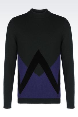 Armani High neck sweaters Men sweater in wool and cashmere