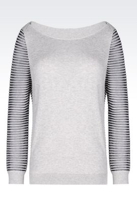 Armani Crewneck sweaters Women sweater in cotton blend