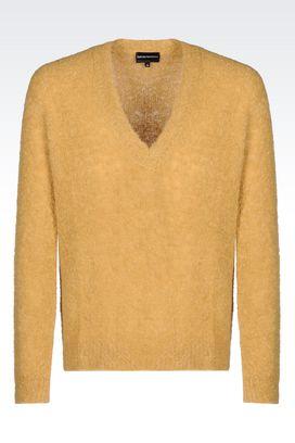 Armani V  neck sweaters Men sweater in alpaca