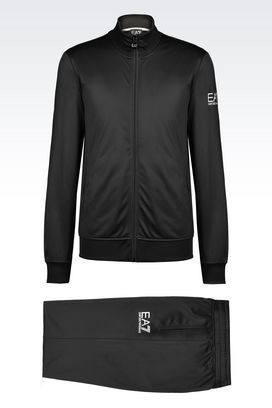 Armani Sweatsuits Men core identity line tricot brush back tracksuit